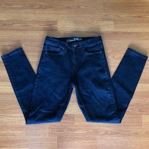 6/28R High Rise Skinny Jeans Denim Dark Blue Wash